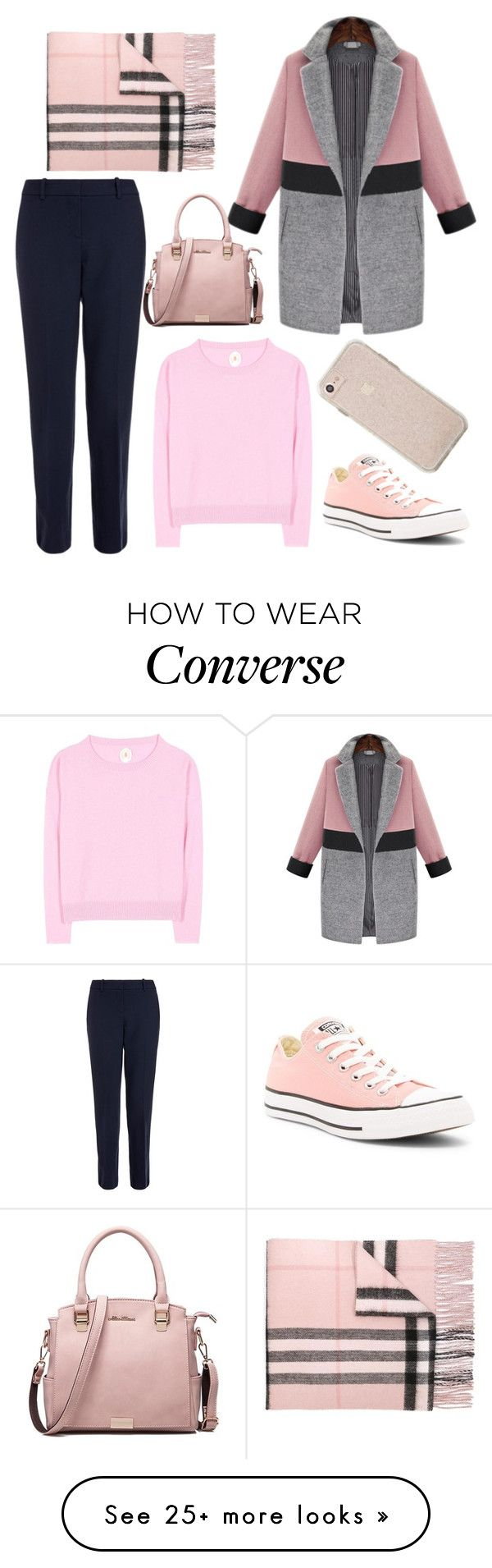 """Untitled #109"" by anya2410 on Polyvore featuring Theory, Burberry, Jardin des Orangers and Converse"