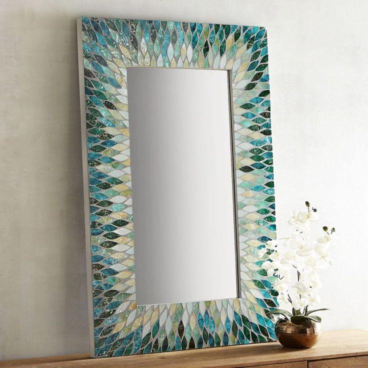 Cascade Mosaic Mirror | Everything Turquoise #StainedGlassMirror