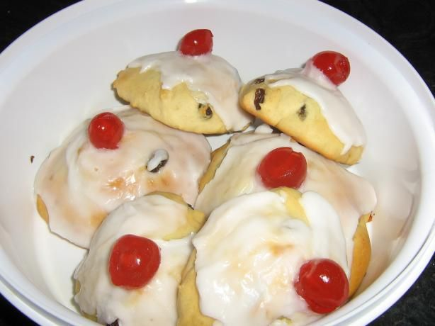 Belgian Buns -- had one in a little town in Wales...yummy. Have to try making these and see if they are as good.