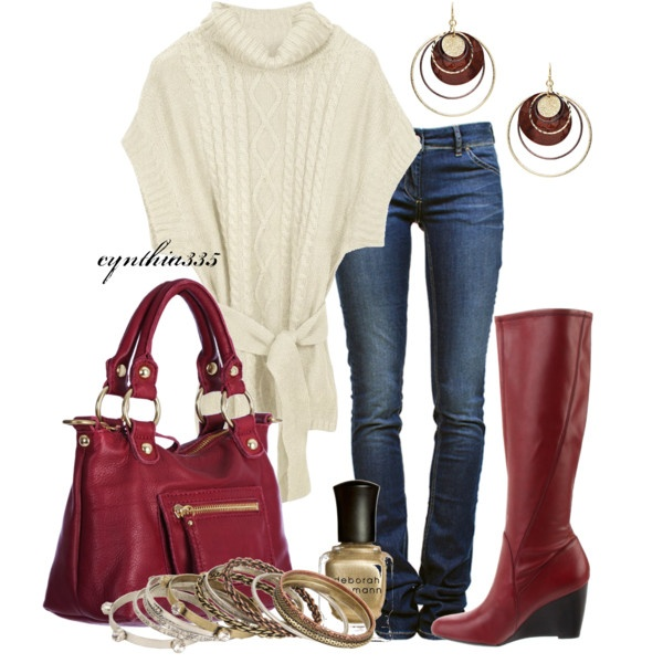 Red Boots, created by cynthia335 on Polyvore