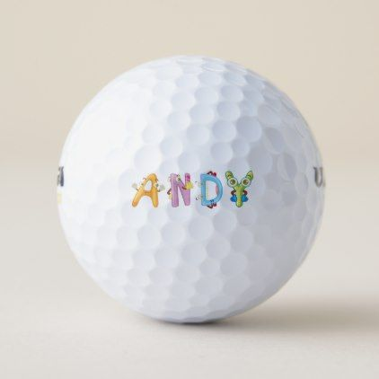 Andy Golf Ball - birthday gifts party celebration custom gift ideas diy
