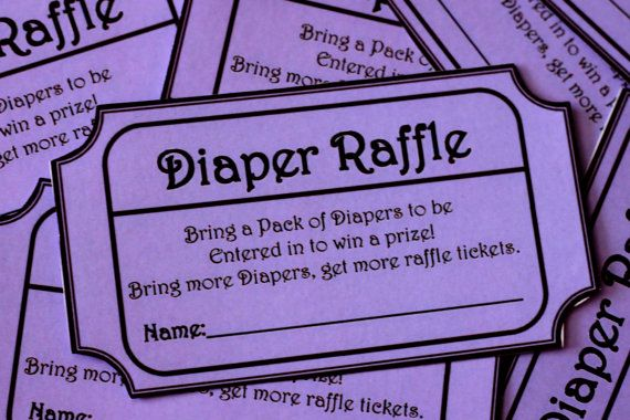 MOM and CHRISSY! This is what I was talking about that I did for Keri's shower! These tickets are super cute! Purple Printable Baby Shower Raffle Ticket. $6.00, via Etsy.