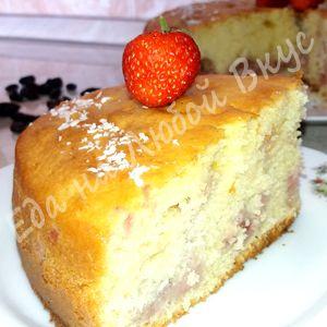 Фото к рецепту: Сладкий Пирог на сметане. Получается Всегда! Нежный, быстрый и легкий.