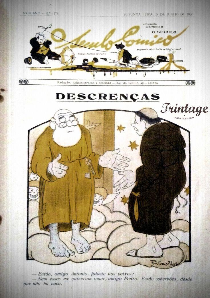 São Pedro e Santo AntónioDescrenças em Ilustração Portugueza, 1920