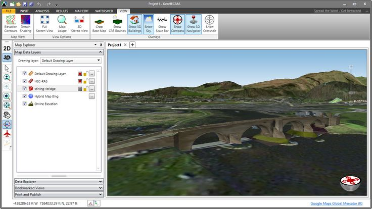 HEC-RAS 3D visualization of the Old Stirling Bridge. The Battle of Stirling Bridge was a battle of the First War of Scottish Independence. On 11 September 1297, the forces of Andrew Moray and William Wallace defeated the combined English forces of  John de Warenne, 6th Earl of Surrey, and Hugh de Cressingham near Stirling, on the River Forth. https://en.wikipedia.org/wiki/Battle_of_Stirling_Bridge