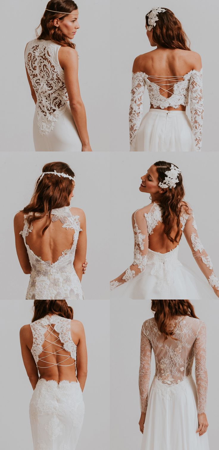 Beautiful Bridal Backs from Nora Sarman Bridal / Bella / Bartok / Bellini / Beatrix / Beethoven / Bronte