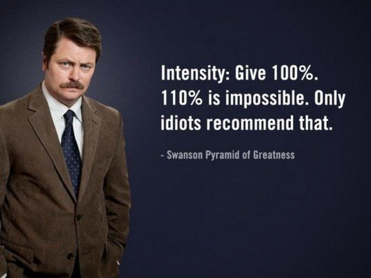 Elegant Ron Swanson  Self Prez Eight Social Blind Spot  Nine Rivers