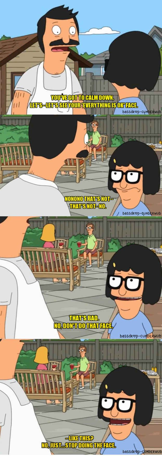 "Family means being there for emotional support. | 31 Things ""Bob's Burgers"" Can Teach You About Life, Family, And Butts"