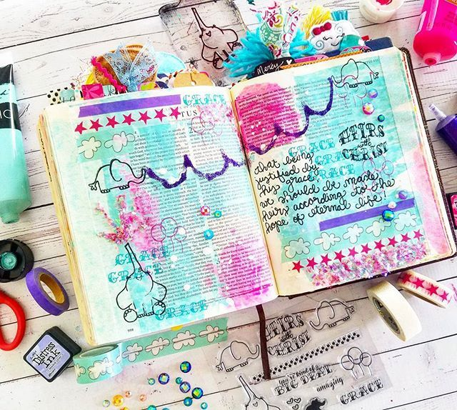 """""""That being justified by his grace, we should be made heirs according to the hope of eternal life!"""" -Titus 3:7 . . Get these adorable Heirs with Christ Stamps in our #etsy shop here ↪growingmeadows.etsy.com link in profile . . .  We had a super fun time creating this page on Periscope today! Catch the replay my Periscope username is @growingmeadows or watch online periscope.tv/growingmeadows . . . #biblejournaling #biblejournalingcommunity #journalingbible #journalingbiblecommunity #stamps…"""