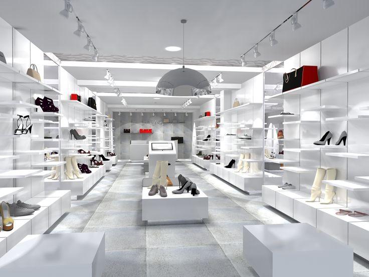 Projekt wnętrz sklepu stacjonarnego Eobuwie.pl przy ul. Pieniężnego w Zielonej Górze