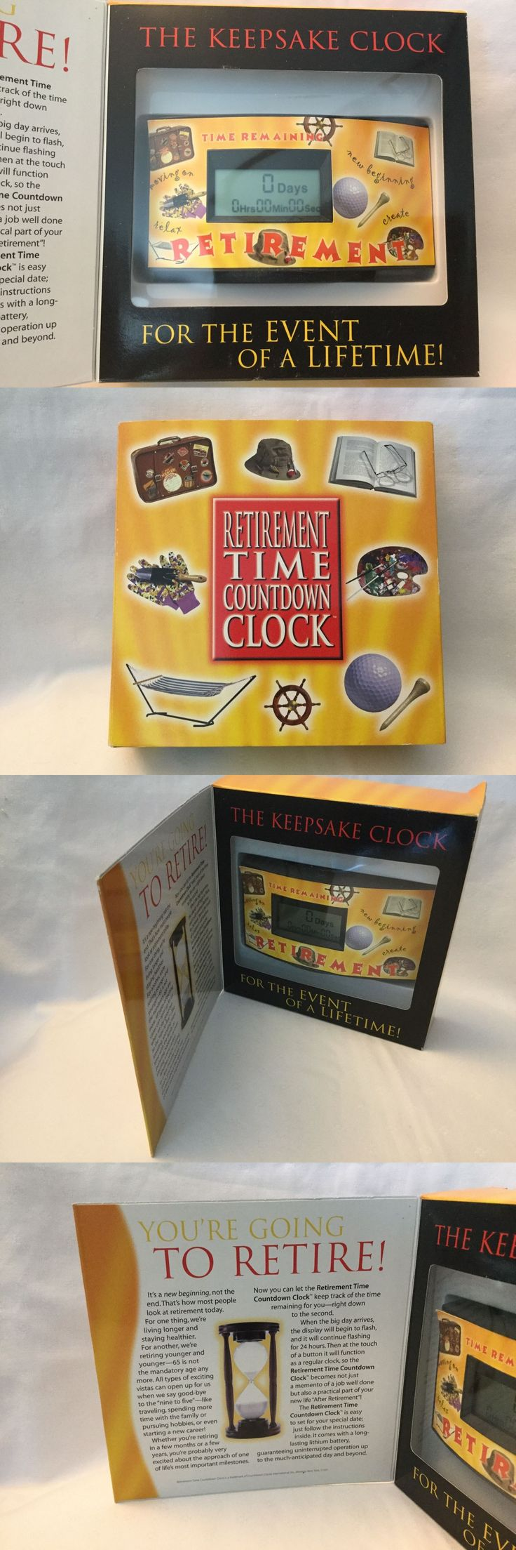 Gag Gifts 19257: Retirement Countdown Clock Gift Boxed Keepsake Days Hours Time Remaining Retire -> BUY IT NOW ONLY: $42 on eBay!