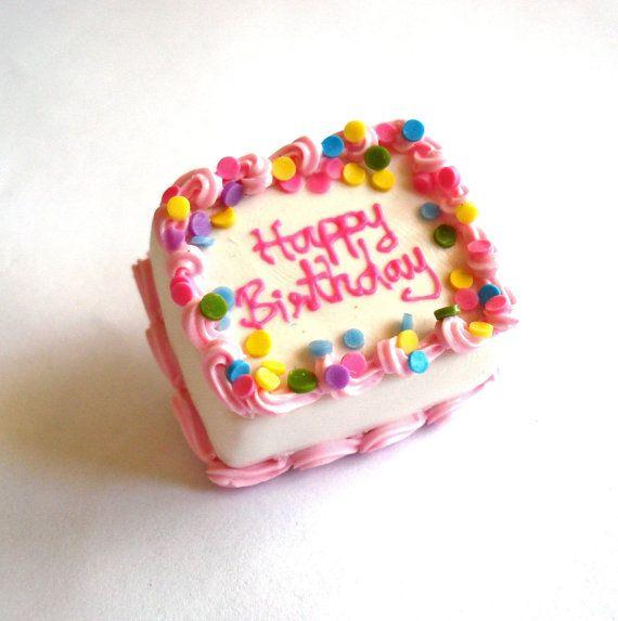 Pink Birthday Cake Brooch Birthday Cake Pin by FatallyFeminine