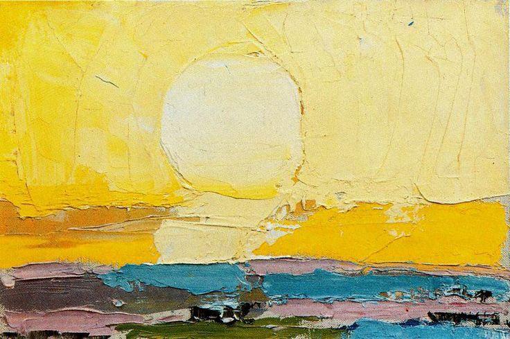 """yama-bato: """" Nicolas de Staël (1914-1955) The Sun Ciudad de la Pintura """""""