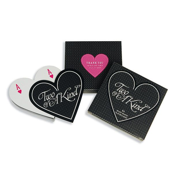 Two Of A Kind Heart Shaped Playing Cards