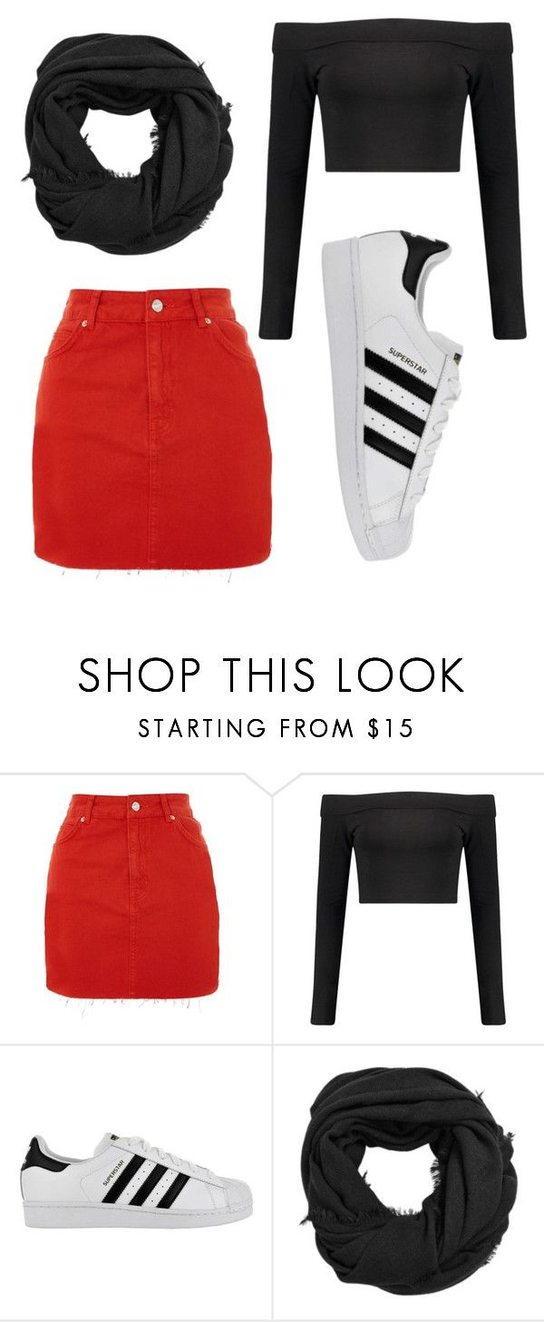 """""""casual"""" by juliadb on Polyvore featuring Topshop, Boohoo, adidas and MANGO"""