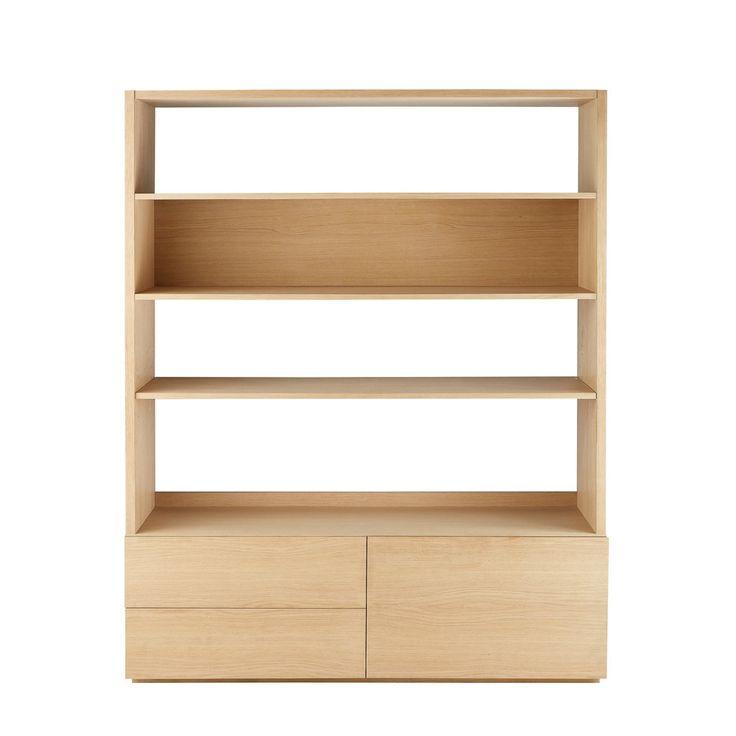 Boekenkast/tv-meubel met 2 lades | Maisons du Monde