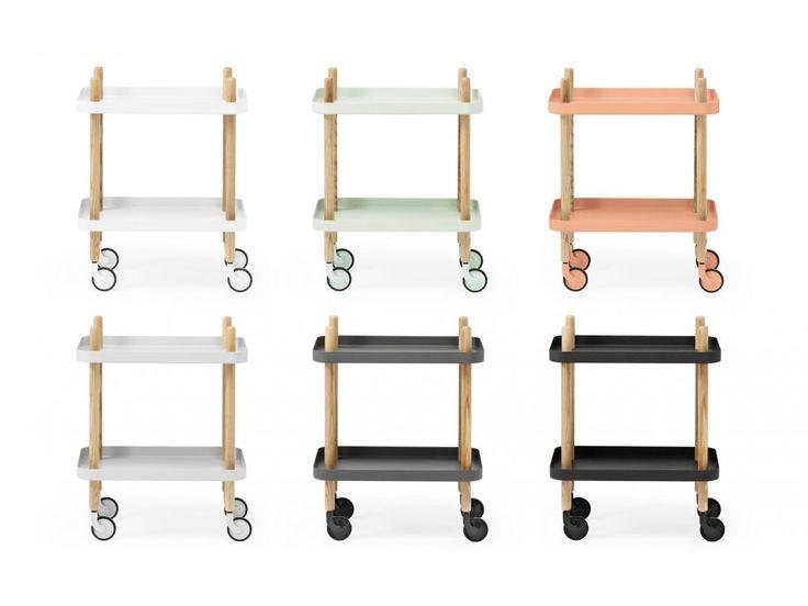 Stolik Block jasnoszary — Stoliki Normann Copenhagen — sfmeble.pl  #scandinavian  #style  #interior  #homedesign #furniture #table