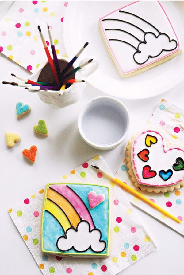 DIY Tutorial: Paint by Party Cookies {Rainbow Party}