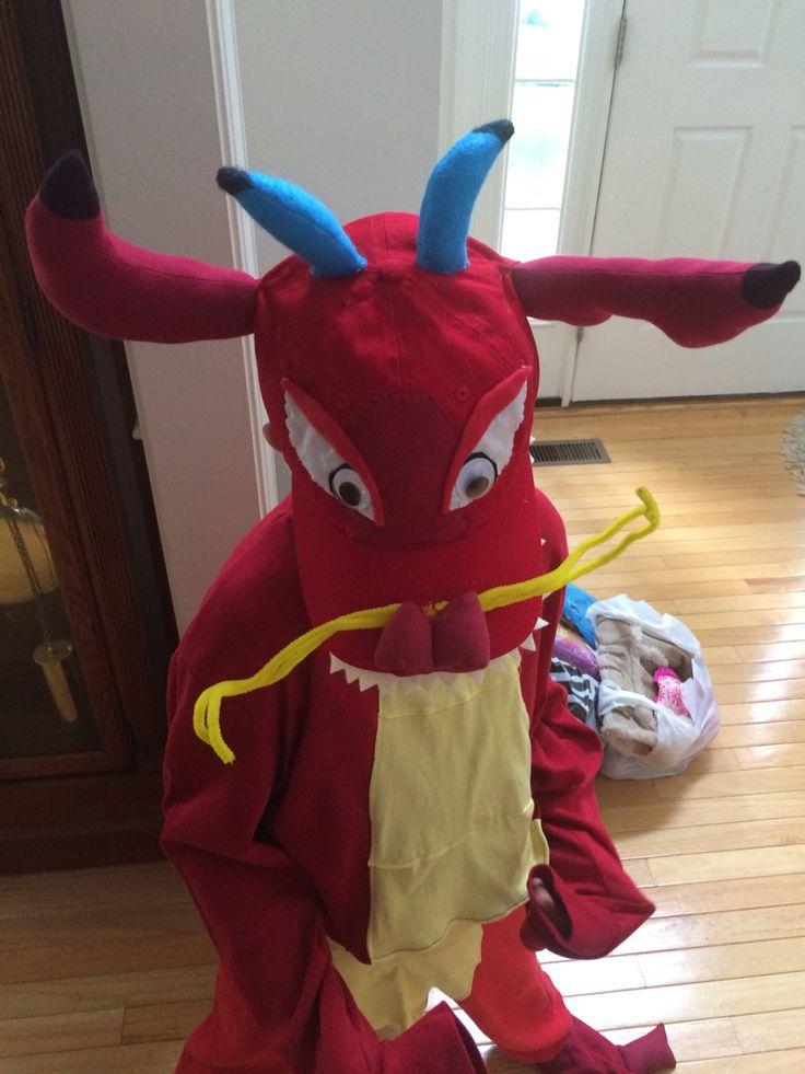 Mushu dragon costume for Mulan jr play at Stfas June 2015