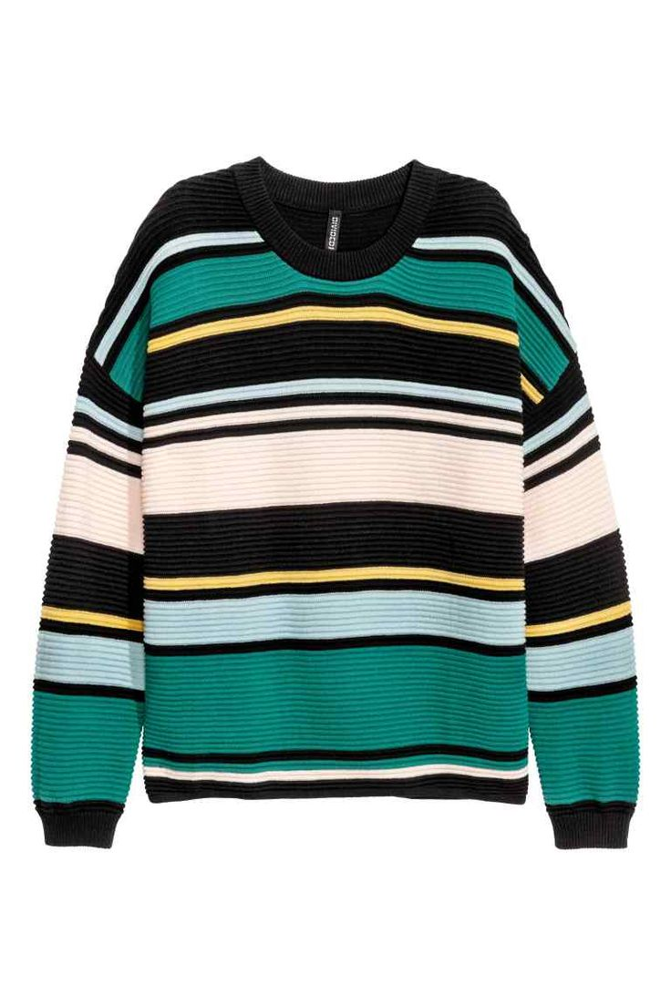 Jumper in a textured knit: Jumper in a soft, textured knit in a wide style with…