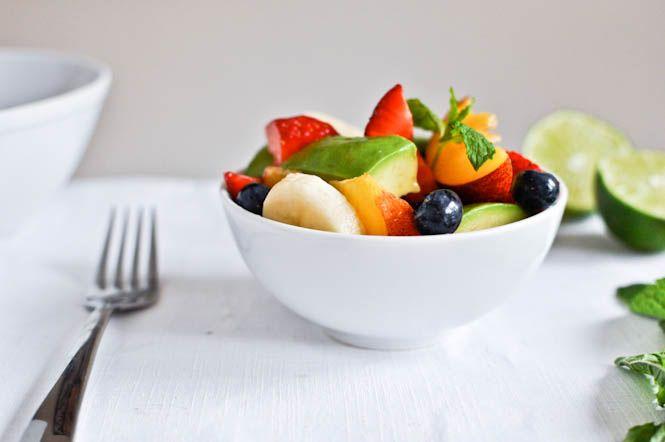 avacado lime fruit salad
