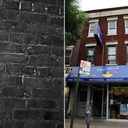 <strong>BERGIN HUNT AND FISH CLUB -- 98-04 101st Ave., Ozone Park, Queens.</strong><Br />Another favorite spot of John Gotti and later his son, John A. (Junior) Gotti. Today it's divided into two businesses: PSC Medical Supplies and The Dog 'n Cat House Grooming Salon. (Pictured: Peter Gotti holds court outside in 1996)