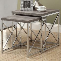 Monarch Specialties Inc. 2 Piece Nesting Tables | Wayfair $144.62