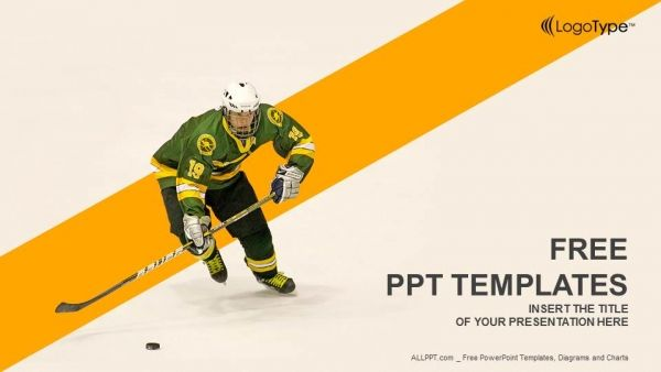 Free Ice Hockey Player Concept Powerpoint Template Hockey Is Certainly One Of The More Unique Sports Powerpoint Templates Powerpoint Powerpoint Template Free