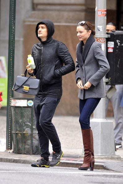 Miranda Kerr out and about in New York City with husband, actor Orlando Bloom 10/24/2011#Repin By:Pinterest++ for iPad#