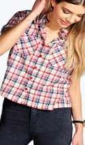 boohoo Crop Short Sleeve Checked Shirt - multi azz15282 Make your top pop this season with sporty, baseball-style basic tees in quilted finishes with ribbed, stripe trims. Crew necks come in block colours, crop tops with mesh inserts and long sleeve jersey http://www.comparestoreprices.co.uk/womens-clothes/boohoo-crop-short-sleeve-checked-shirt--multi-azz15282.asp