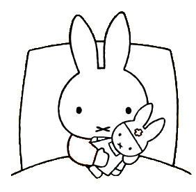 Miffy Hugging The Doll
