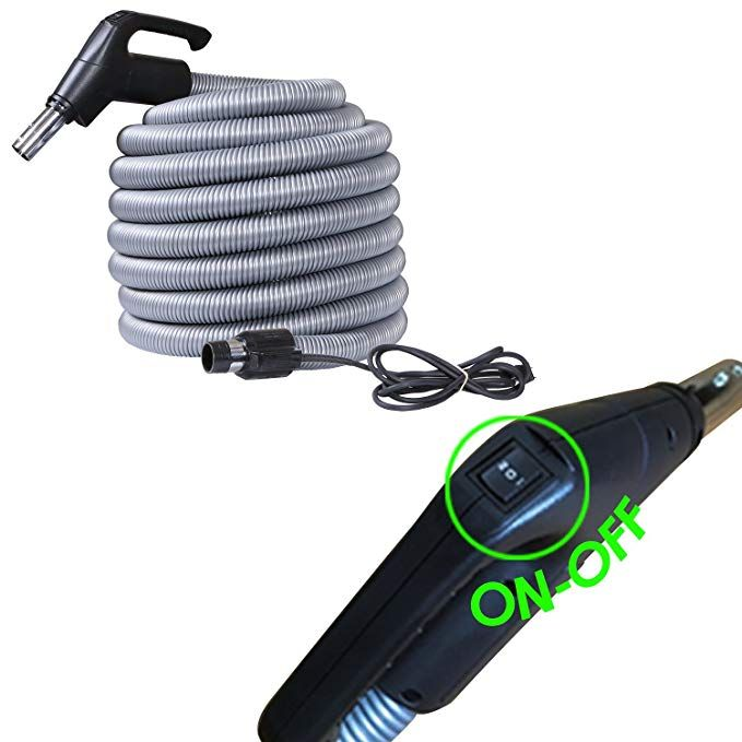 Ovo Universal 35 Ft On Off High Voltage Hose Central Vacuum 35ft
