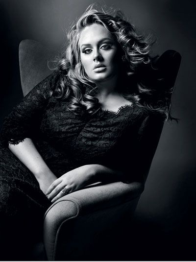 """I like having my hair and face done, but I'm not going to lose weight because someone tells me to. I make music to be a musician not to be on the cover of Playboy.""  <3 Adele <3"