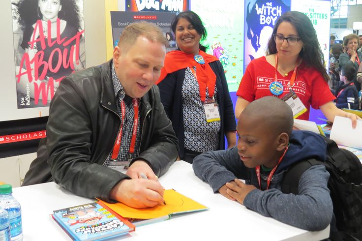 Author Dav Pilkey at BookExpo 2017 in NYC