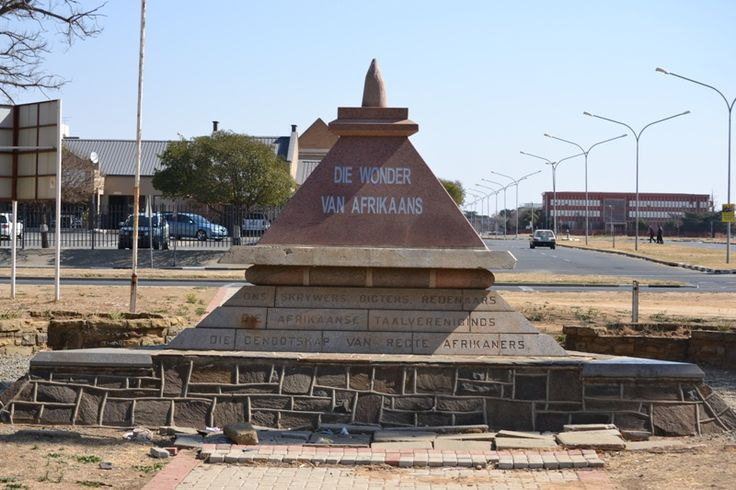 "Afrikaans Language Monument.  Wikipedia:  ""Welkom has several monuments including . . . the Afrikaans Language Monument."""