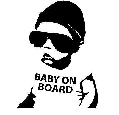 details about baby on board dude car decal bumper. Black Bedroom Furniture Sets. Home Design Ideas