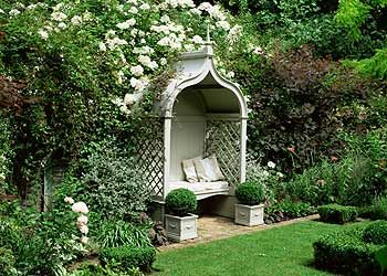 outdoor bench with covered seating   ... evening gardens   Outdoors   Your home & garden   Homes & Property