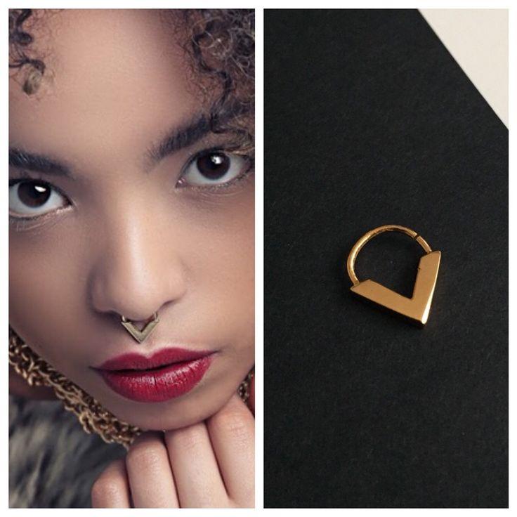 Gold Septum Ring Designed by Elisha Francis | Tribal Septum | Real Septum | Gold Septum | Bohemian Septum | 18 Gauge Septum | Gold Nose Ring by ELISHAFRANCIS on Etsy https://www.etsy.com/listing/255657645/gold-septum-ring-designed-by-elisha
