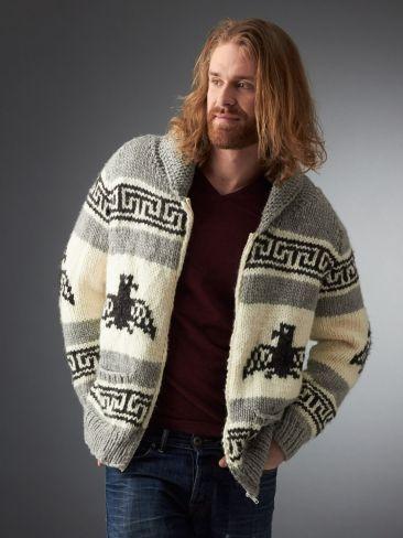 I'm the Dude Jacket | Yarn | Free Knitting Patterns | Crochet Patterns | Yarnspirations - Love this jacket!