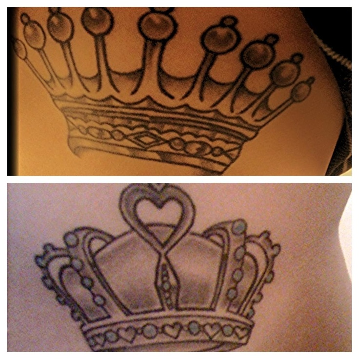 Couples tattoo. His crown. king of each others heart. Jeff ...