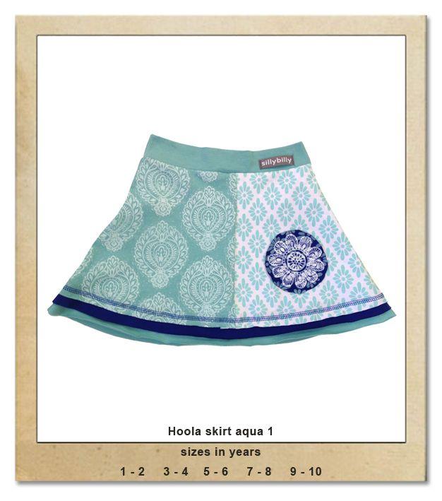 Sillybilly© clothing:  Hoola skirt aqua 1