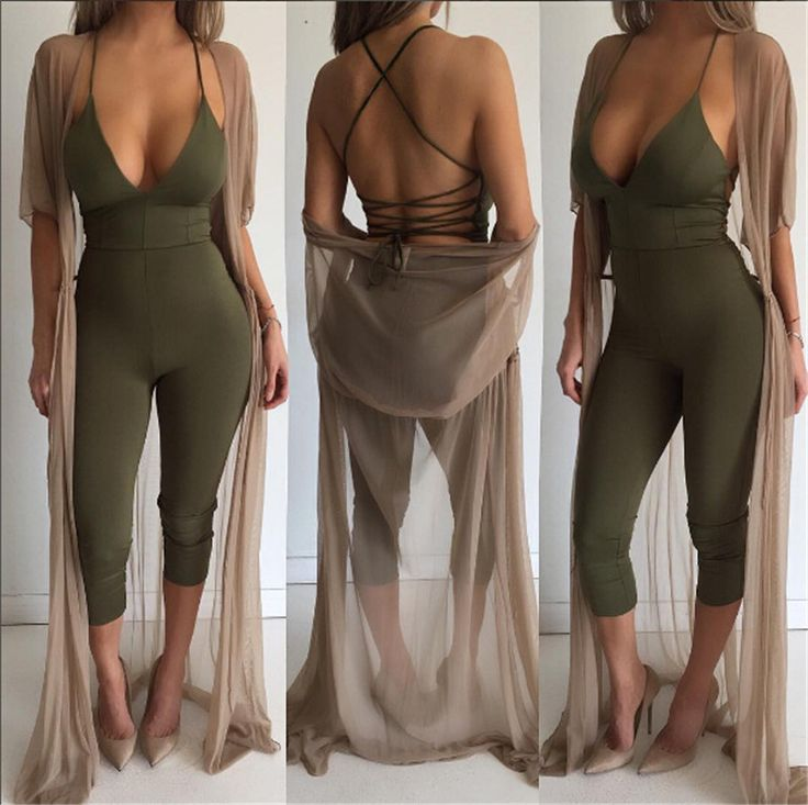 Ladies Jumpsuits Overalls Sexy Purple Green Black Casual