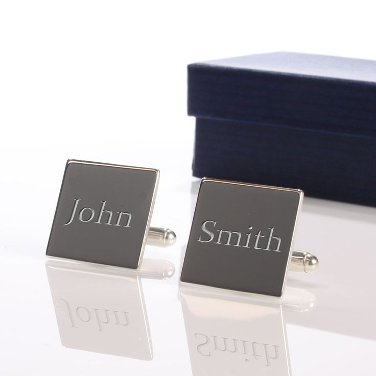 Personalised Square Silver Plated Cufflinks - yourgifthouse