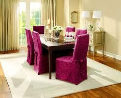 Patterned Long Dining Chair Covers Burgundy Scroll Patterned Long Dining  Chair Cover   Find It At Shopwiki