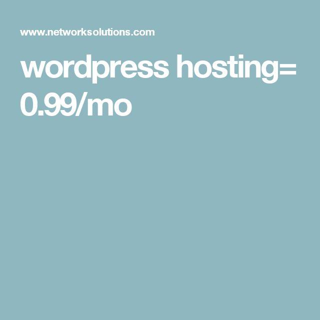 wordpress hosting= 0.99/mo