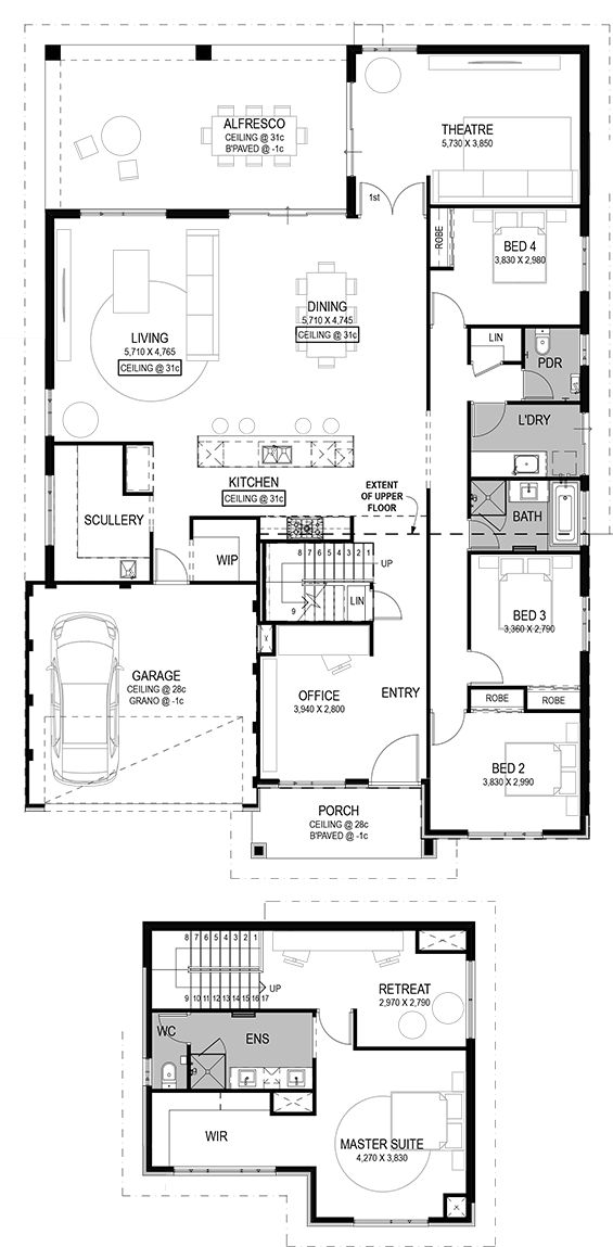 The Salerno Floorplan by National Homes