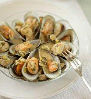 Mussels Steamed in Ouzo | Greek Food - Greek Cooking - Greek Recipes by Diane Kochilas