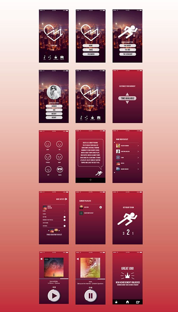 Beat Fitness App on Behance