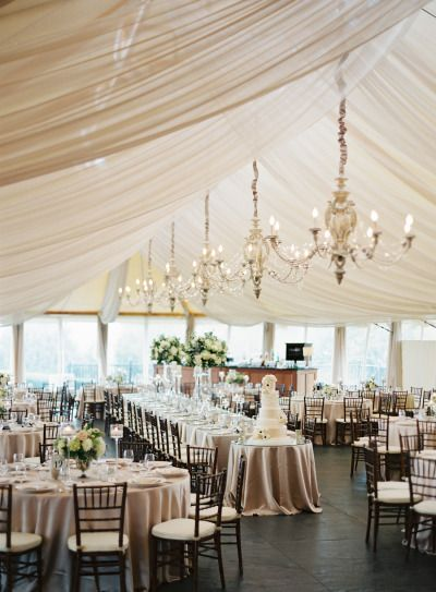 Glam tented reception: http://www.stylemepretty.com/2015/03/03/modern-nautical-newport-wedding/ | Photography: Judy Pak - http://judypak.com/