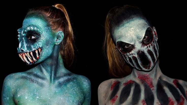 Fantastic Eerie Monster Body Paint Cosplay by 16 Year Old Lara Wirth: Below you will find some amazing and inspiring… #Photo #Videos